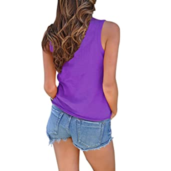 Amazon.com  Domy Women s Casual Summer Top Sleeveless Tie Front Knot Blouse  Cami Tank Tops (S