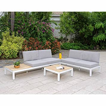 OUTLIV. Meuble Lounge Outdoor ALMERA Lounge 3 pièces Aluminium ...