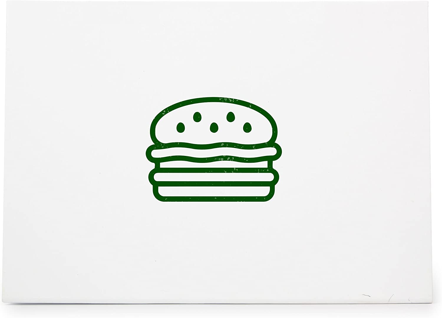 Hamburger Burger Cheeseburger Fast Food Style 7484, Rubber Stamp Shape great for Scrapbooking, Crafts, Card Making, Ink Stamping Crafts