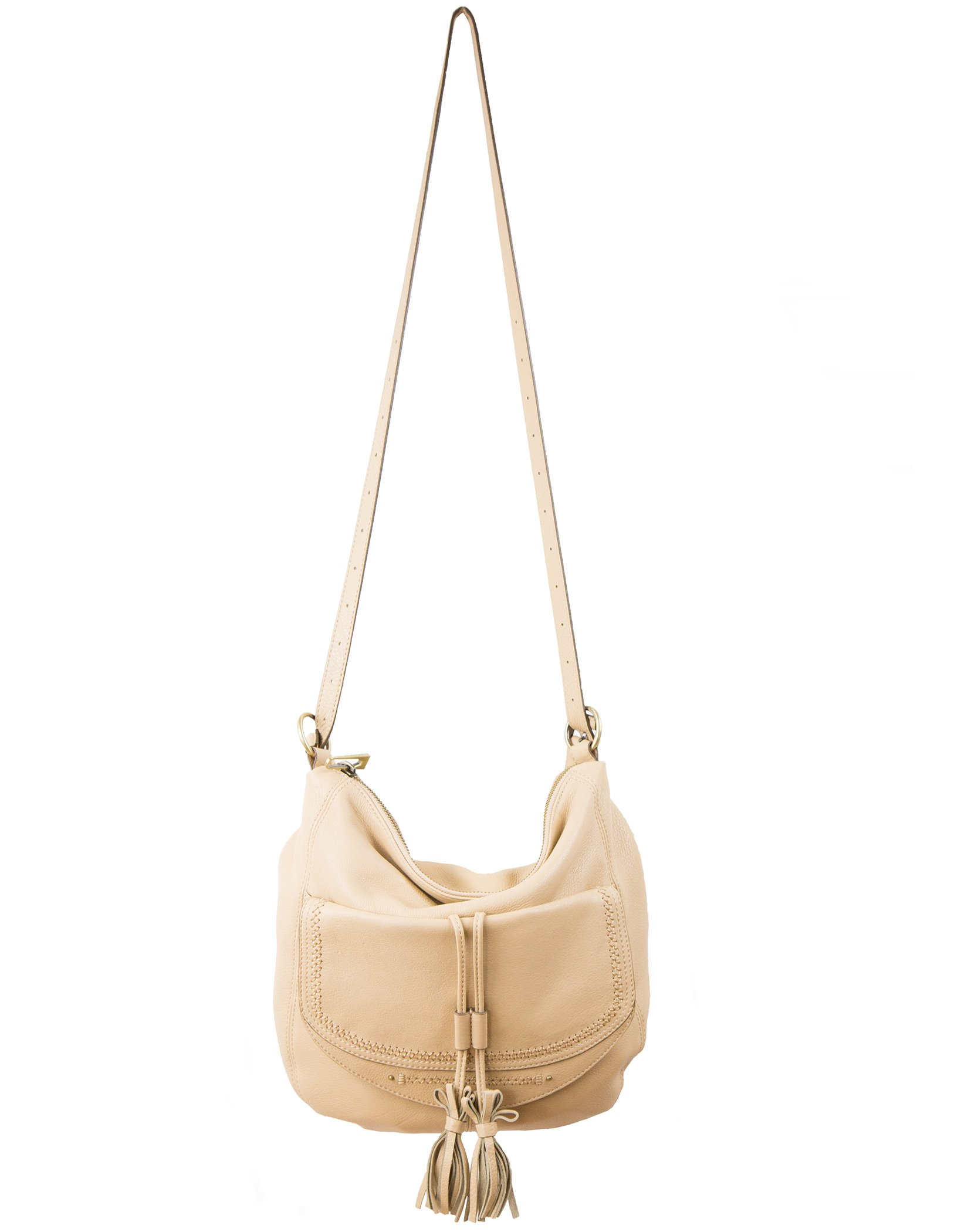 Sanctuary City Edition Nude Leather Bohemian Hobo Bag
