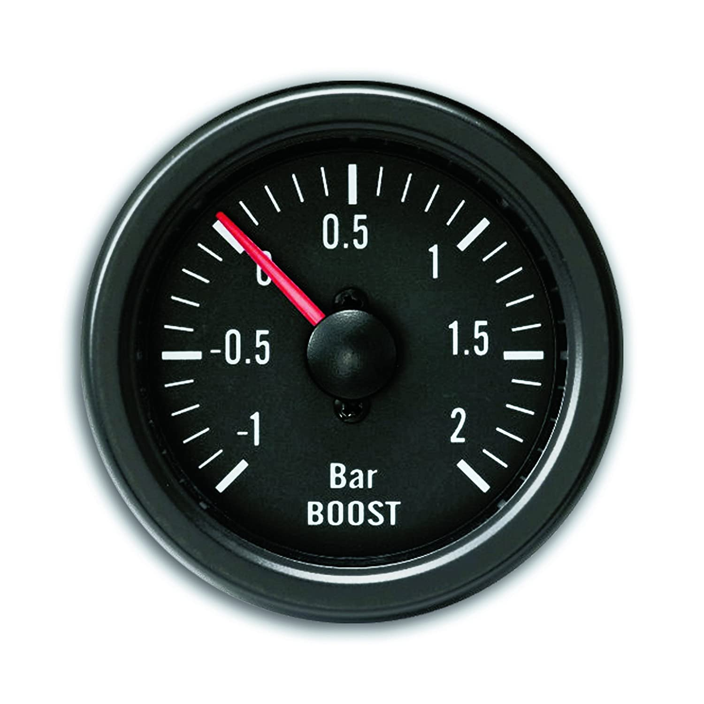 JOM 21110V Zusatzinstrument YoungTimer, Ladedruckmesser, Boost, schwarz Ø 52mm JOM Car Parts & Car Hifi GmbH
