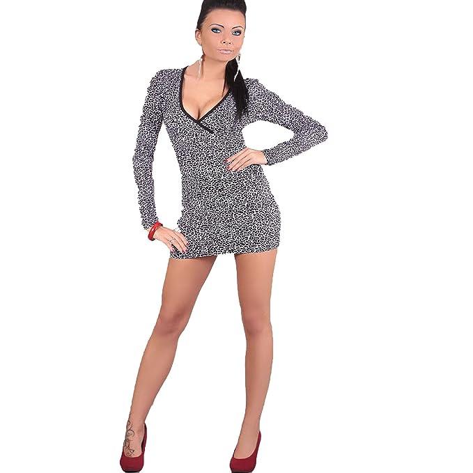 Sexy elástico con una tira de Mini traje de neopreno para mujer con estampado Animal para Nochevieja e instrucciones para hacer vestidos e instrucciones ...