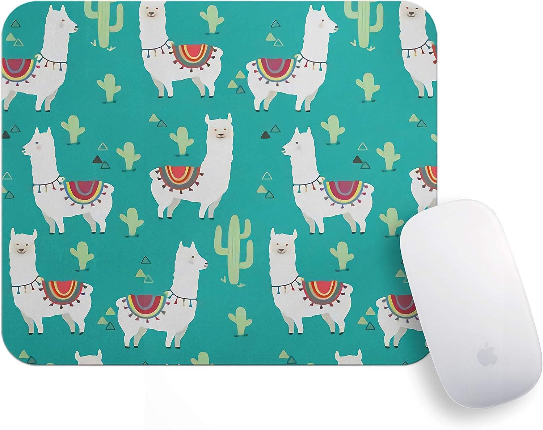 Llama/Mouse Pad/Llama Mousepad/Llama Mouse Pad/Llama Cactus Mousepad/Cactus/Office Decor/Mouse Mat/Desk Accessories