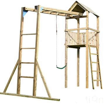 Monkey Bars Wooden Climbing Frame, Substantial Size, 3 Metre Tall ...