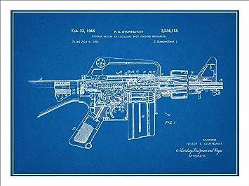 Amazon ar 15 assault rifle m16 patent print art poster unframed ar 15 assault rifle m16 patent print art poster unframed blueprint 18quot malvernweather Choice Image