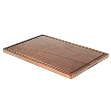 XL Walnut Cutting Board with Juice Groove for Chopping (12 x18 ), Serving and Carving. Reversible with Drip Groove for Food Prep, Meat, Fruit and Vegetables. Chopping Block for your CounterTop.