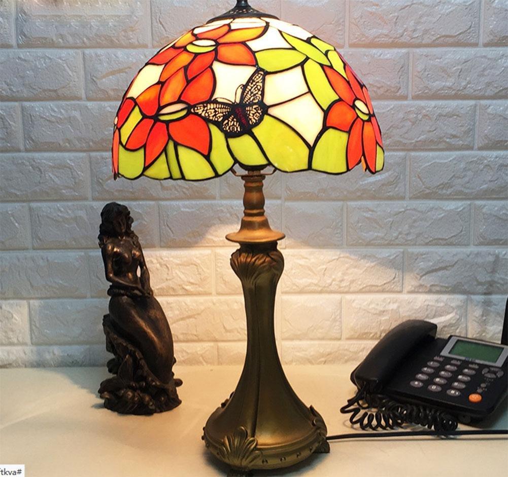 RENMEN Glas-LED Retro-Augenlicht Spot Schlafzimmer Nachttischlampen Studie Schreibtischlampe