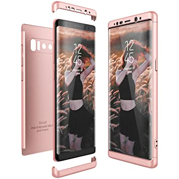 CE-Link Funda Samsung Galaxy Note 8, Carcasa Fundas para Samsung Galaxy Note 8, 3 en 1 Desmontable Ultra-Delgado Anti-Arañazos Case Protectora - Oro ...