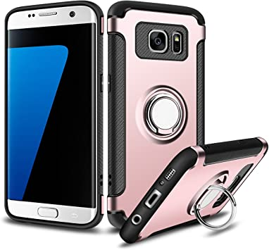 Coolden Funda Samsung Galaxy S7 Edge, S7 Edge Funda con Anillo ...