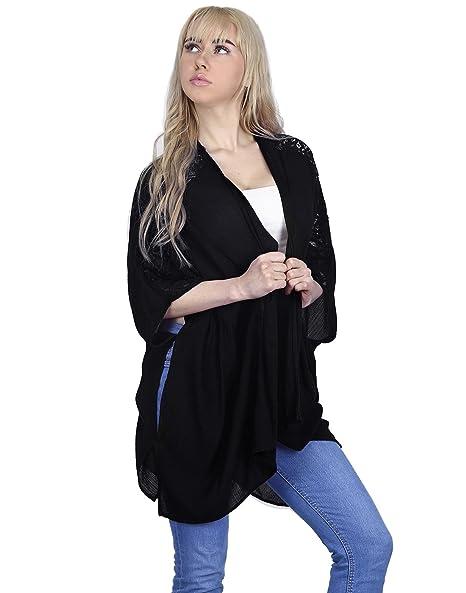 1f18ee9fab3 HDE Kimonos for Women - Open Front Kimono Half Sleeve Plus Size Cardigan  Tops at Amazon Women s Clothing store