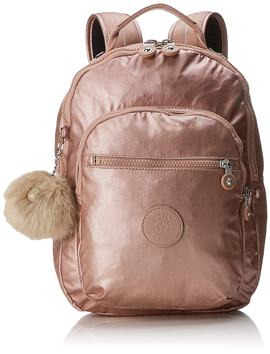 e7140ae5f2 Kipling CLAS SEOUL S School Backpack, 34 cm, 10 liters, Gold (Metallic  Blush): Amazon.co.uk: Luggage
