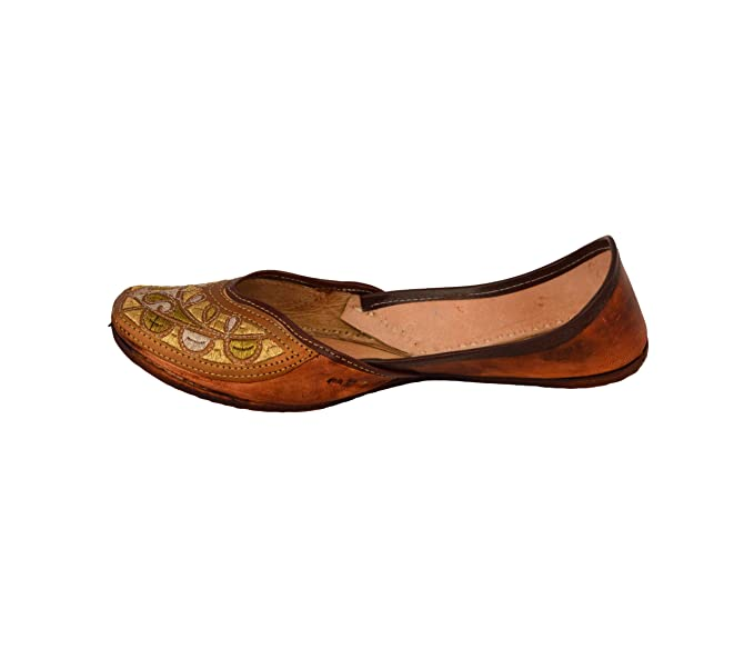 73050ca82175 Image Unavailable. Image not available for. Colour: Handcrafted Women's  Artisan Indian Slippers Womens Flat Shoes