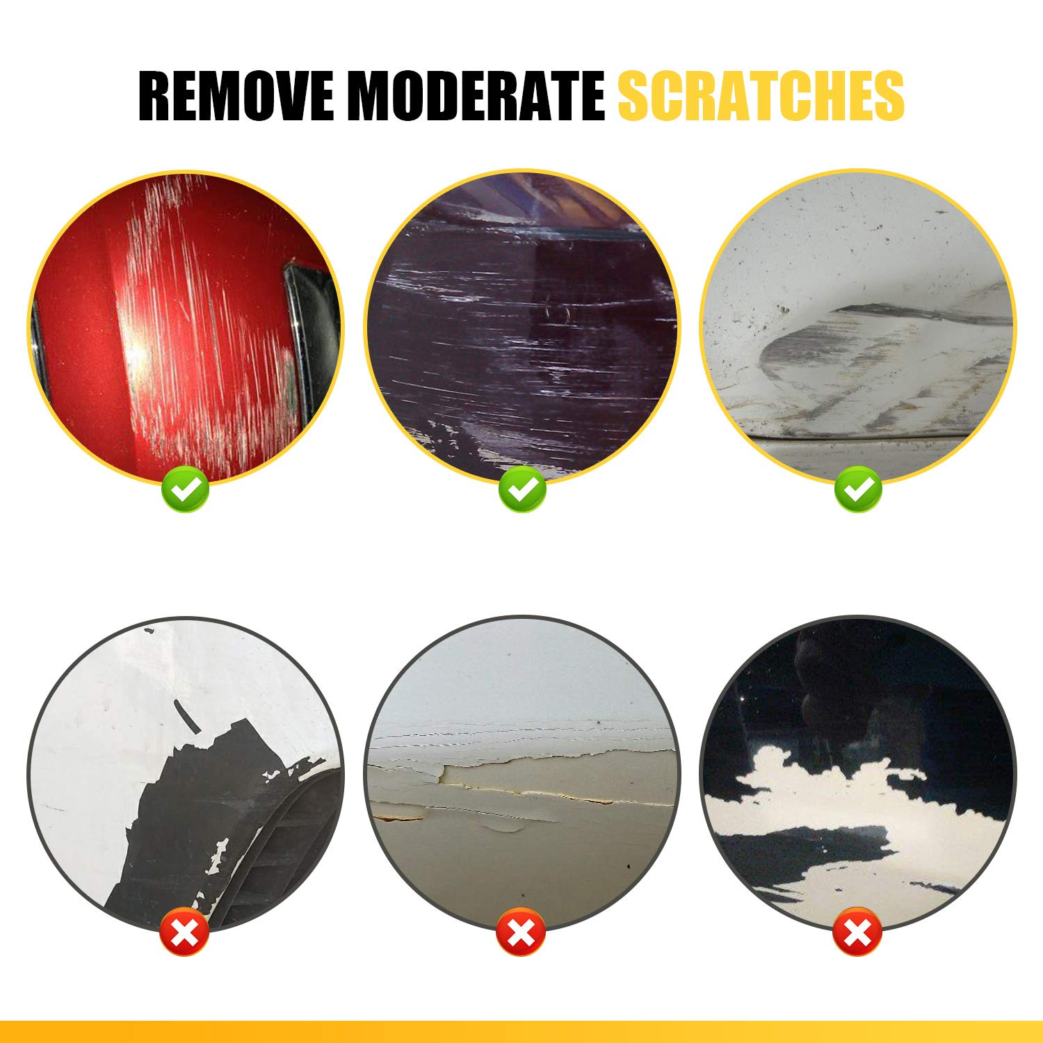 KUWAN Car Scratch Remover - Scratch Removal for Automobile - Paint Remover - Remove Scratches- Scratching Glass Stain Removal /Polish - Restore Blemishes to Repair Vehicle Surface by KUWAN (Image #5)