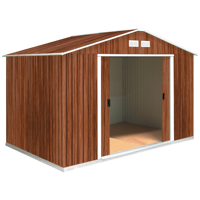 Tepro Gartenhaus / Metallgerätehaus Colossus 10x8 Holzoptik