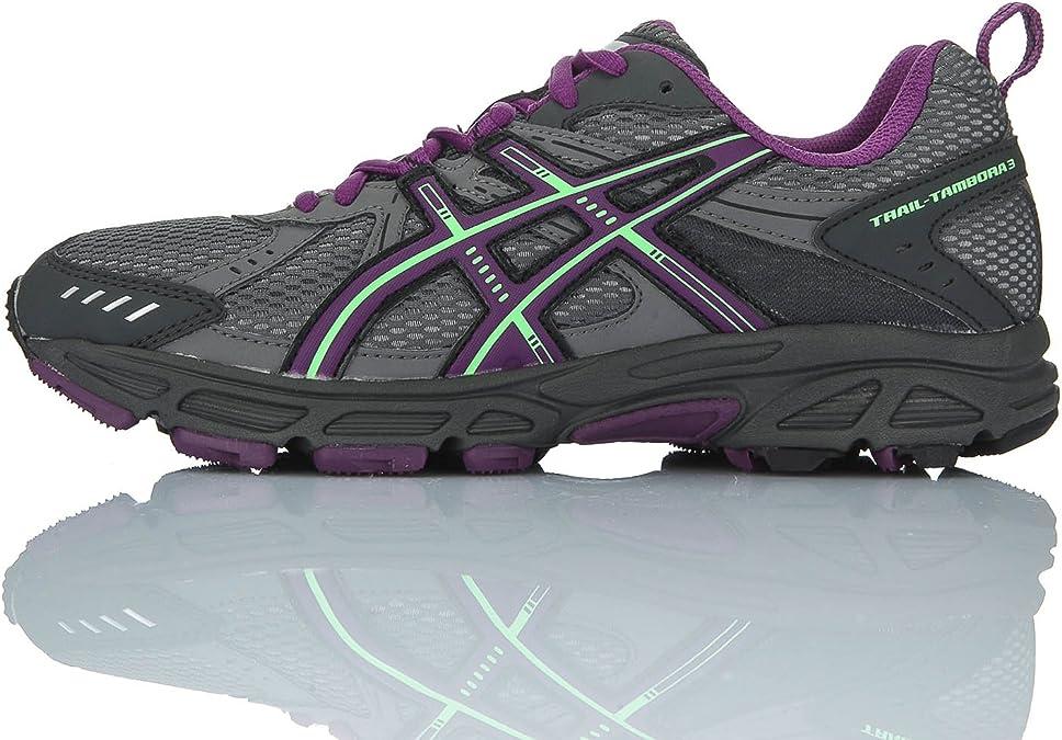 Asics Zapatillas Performance Trail-Tambora 3 Gris/Morado EU 37 (US 6): Amazon.es: Zapatos y complementos