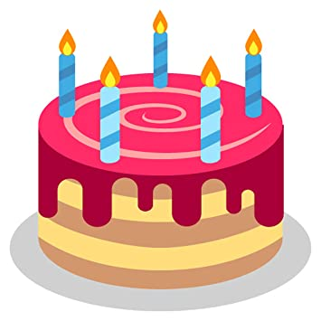 Birthday Cake Emoji Metal Sign