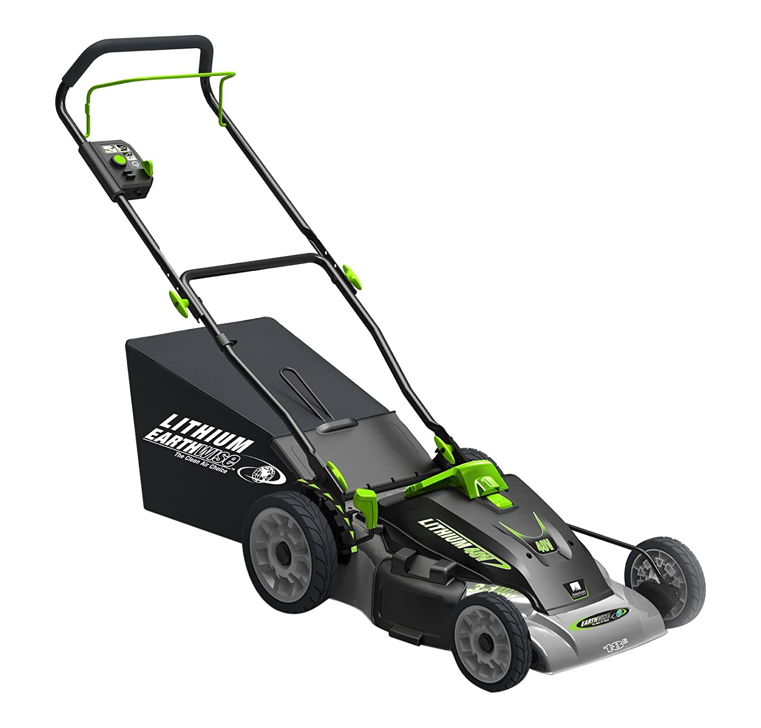 "Earthwise 60418 Lithium Ion Electric Lawn Mower, 18"", 40-Volt Cordless 18"""