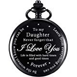 Daughter Gift Pocket Watch Personalized Pattern Steampunk Watch Gift from Dad Mom for Birthday Christmas