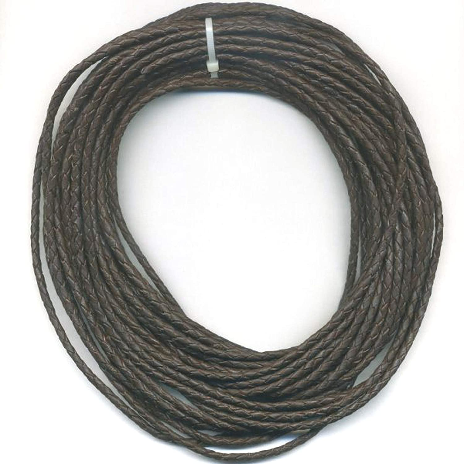 Bolo Braided Leather Cord 4MM Black Red White Colors 10 Meters