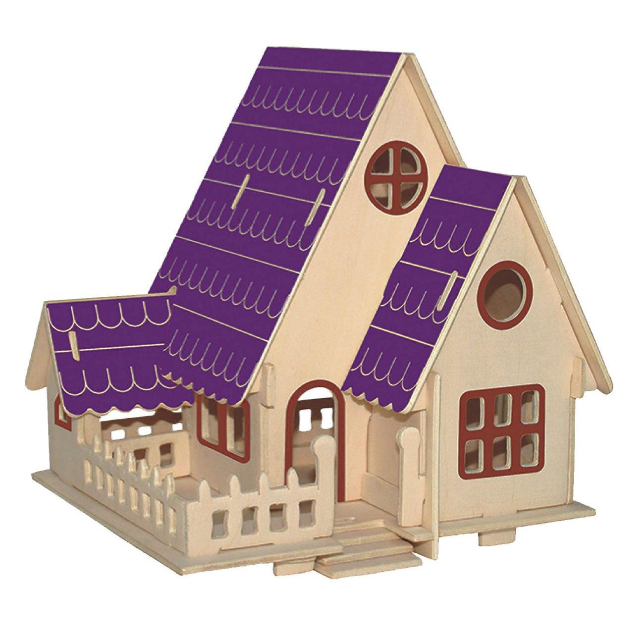 男女兼用 MIfX Woodcraft Constructionキットギフトfor Woodcraft Childrenカラーデザイン教育DIYおもちゃ3d木製ジグソーパズルアセンブリハンドメイド木製モデル M-9 森の別荘 森の別荘 M-9 B077M5PD3R, サクライ貿易:411f4bba --- a0267596.xsph.ru