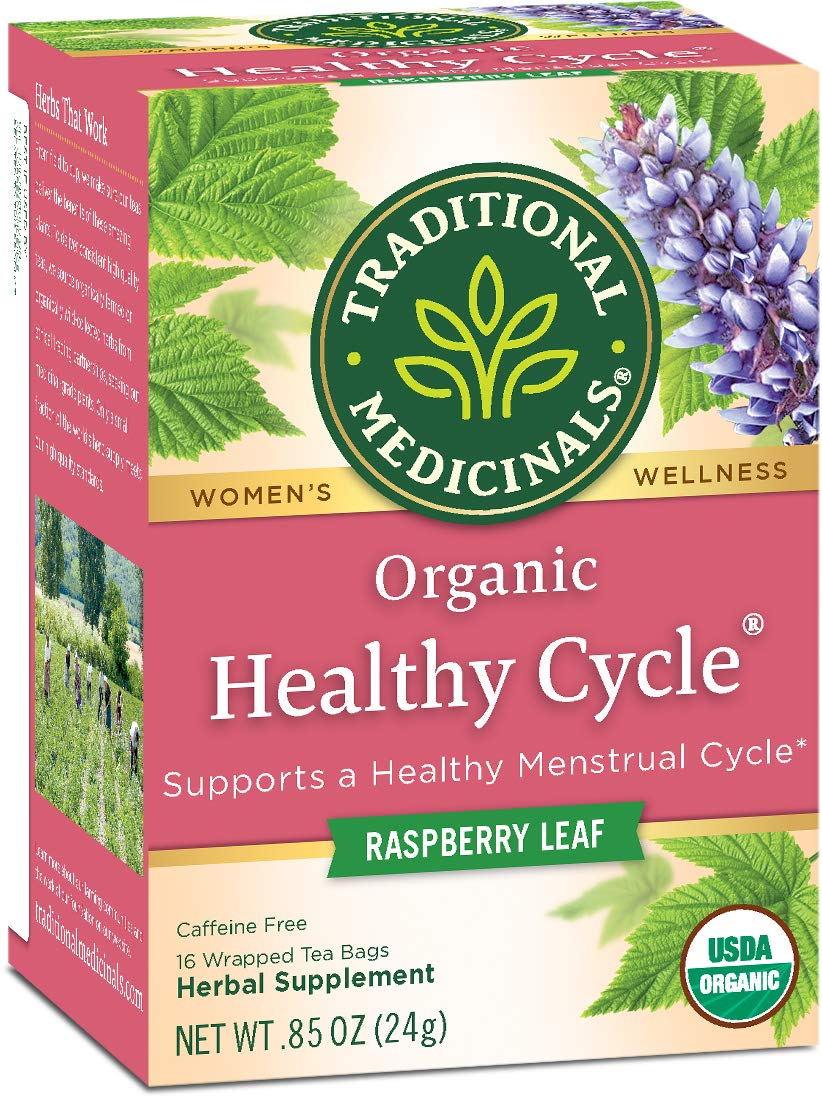 Traditional Medicinals Organic Healthy Cycle Raspberry Women's Tea, 16 Tea Bags (pack of 6) by Traditional Medicinals