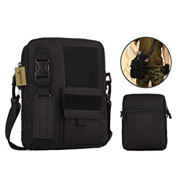 1c92d81085f9 Amazon.com: Wowelife Small Canvas Messenger Bag Small Tactical Bag ...