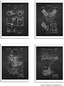 Willys Posters Set of 4 Unframed Art Willys Auto Military Vehicle Patents Willys_Chk4A