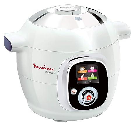 Moulinex Cookeo CE704110 - Robot de Cocina, alta Presión, 6 Modos Cocción, Programable, 100 Recetas Programadas y Bol Extraíble Antiadherente con ...