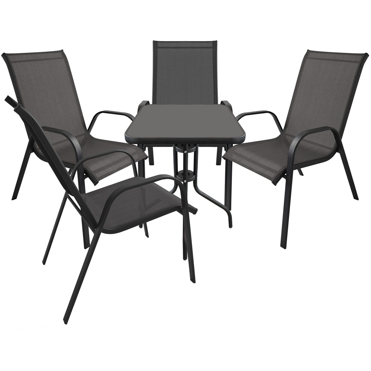 5tlg bistrogarnitur balkonm bel gartenm bel set sitzgruppe gartengarnitur bistrotisch. Black Bedroom Furniture Sets. Home Design Ideas