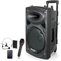 Ibiza Sound PORT15UHF-BT - Megafonía portátil, 15 pulgadas, color negro
