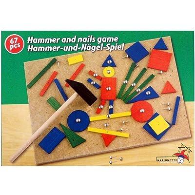 Marionette Wooden Toys - Banco con Martillo (89165): Juguetes y juegos