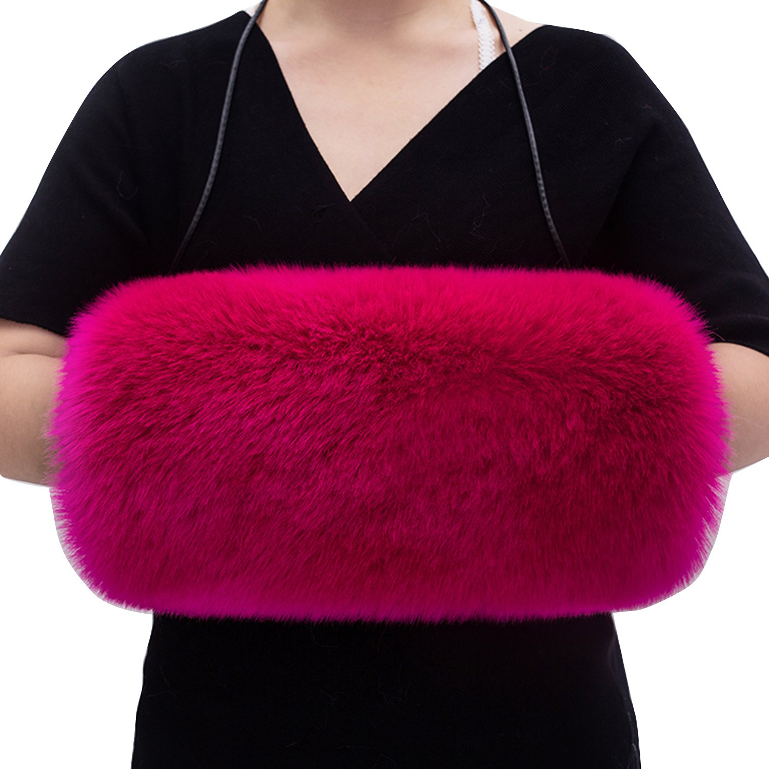 Winter Bridal Faux Fur Muff Handmade Women's Hand Muffs (Color-6, One size)