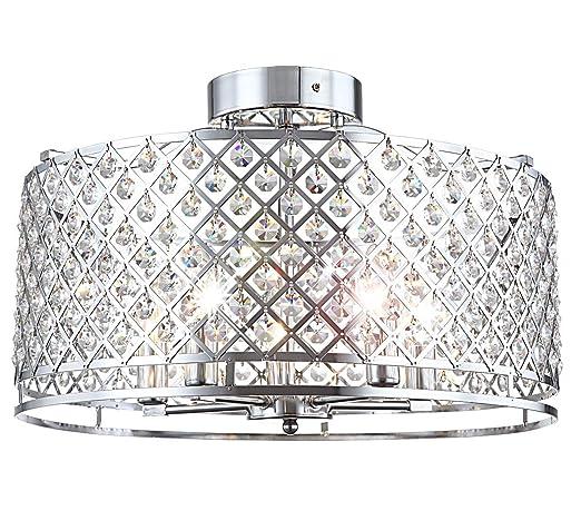 Lámpara de techo cristal diseño elegante araña Salón Lámpara ...