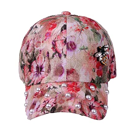 Gorra De BéIsbol,ZARLLE Nueva Unisex Sombreros Las Tendencias De La Moda Hip Hop AlgodóN Estampado Floral Patron Ajustable…