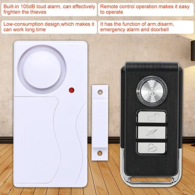 KKmoon Alarma de Puerta Sensor Magnético Inalámbrico Control Remoto Detector Ventana Seguridad para Hogar: Amazon.es: Bricolaje y herramientas