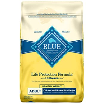 Blue Buffalo Life Protection Formula Healthy Weight Dog Food – Natural Dry Dog Food for Adult Dogs