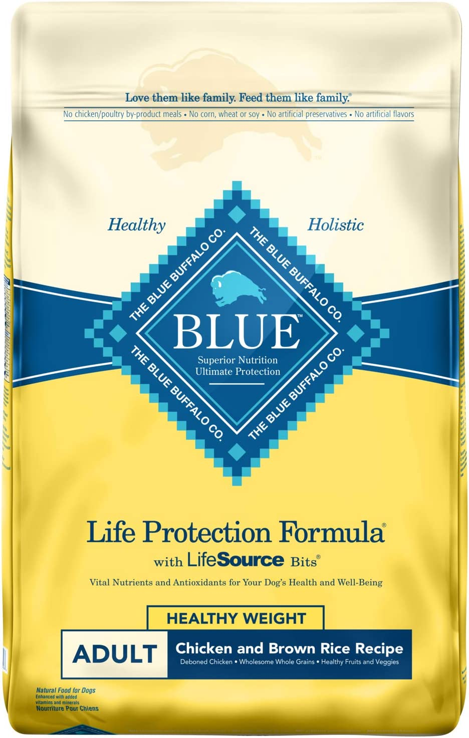 4. Blue Buffalo Life Protection Formula Healthy Weight Dry Dog Food
