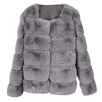 Xinantime Mujer Invierno Abrigo, Abrigo de Imitación Corto