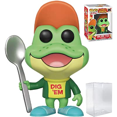 Funko Pop! Ad Icons - Kellogg's Honey Smacks Dig Em' Frog Vinyl Figure (Includes Compatible Pop Box Protector Case): Toys & Games