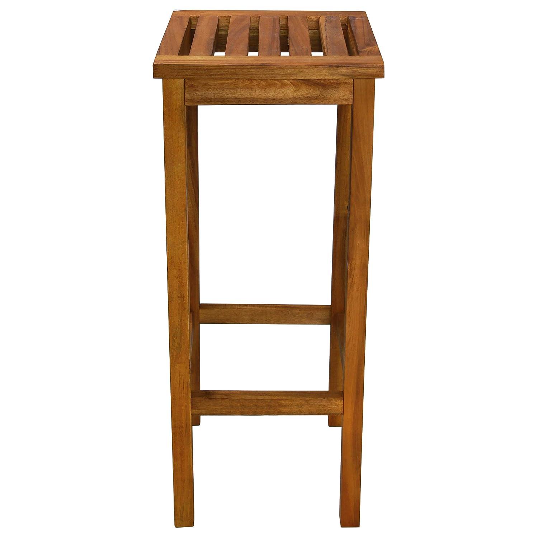 vidaXL 2X Chaise de Bar Bois Massif dAcacia Chaise Jardin Tabouret de Bistro