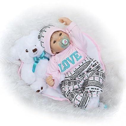 Nicery lebensech Puppen Reborn Weich Silikon Vinyl für Jungen und Mädchen Geburtstagsgeschenk 50-55cm Dolls gx55-173de