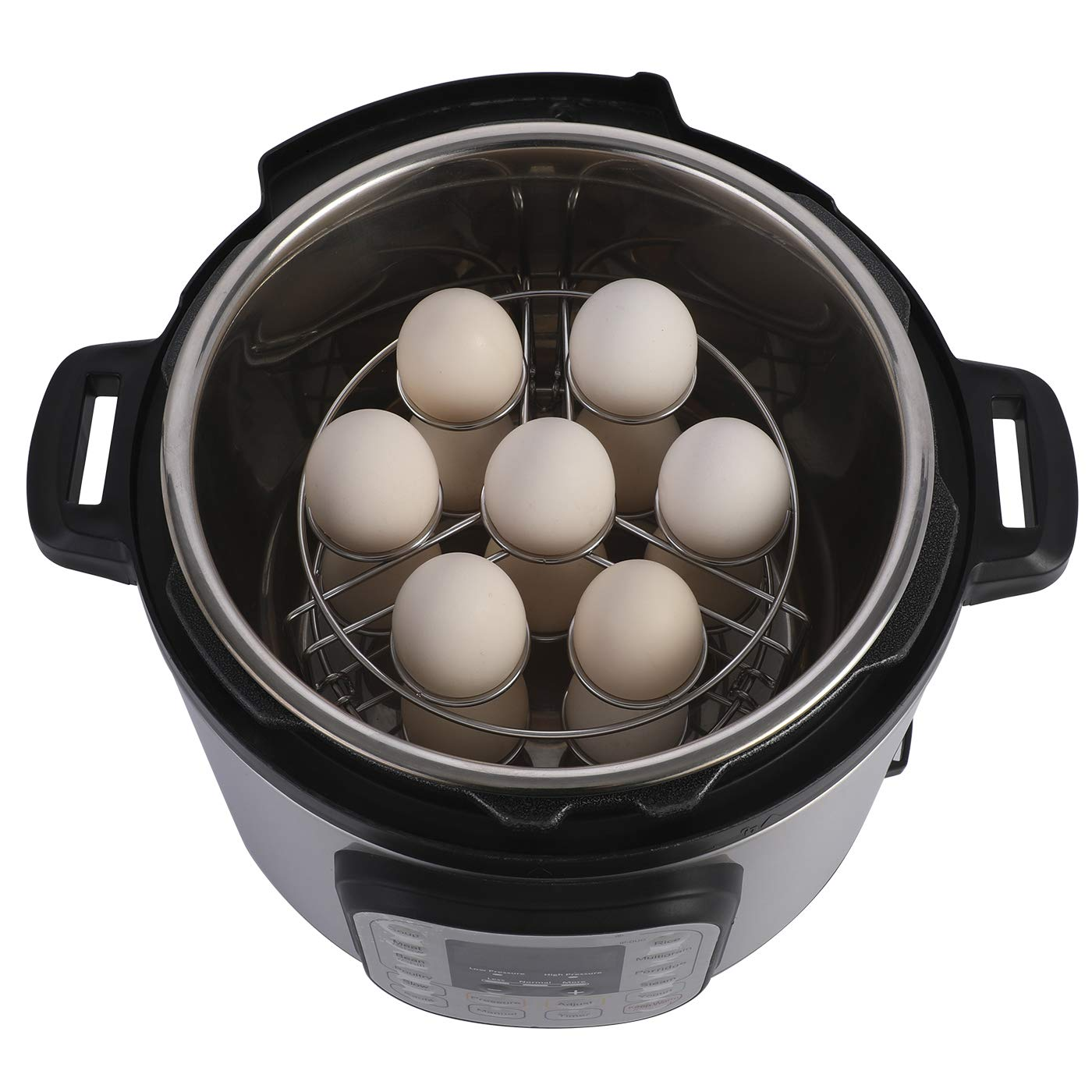 Aozita Stackable Egg Steamer Rack Trivet for Instant Pot Accessories - Fits 5,6,8 qt Pressure Cooker - 2 Pack Stainless Steel Multipurpose Rack by Aozita (Image #5)