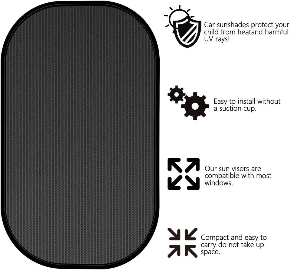 protection solaire pour voiture pare-soleil 44 x 38 cm pare-soleil Lot de 2 pare-soleil de voiture pour b/éb/é avec protection UV pare-soleil pour 95 /% des voitures et SUV