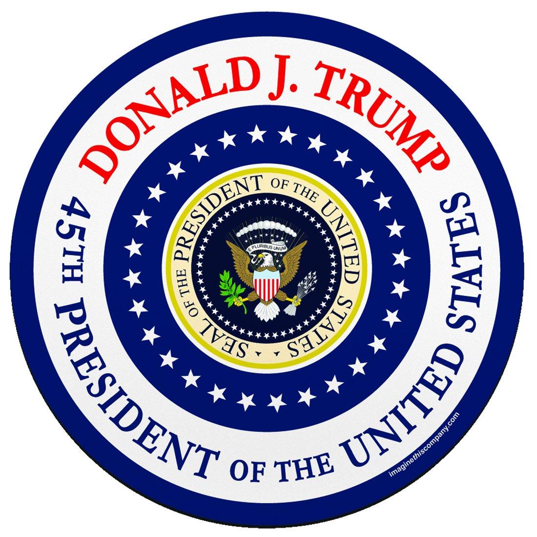 Trump - 45th President BULK 100 Imagine This YY7771 Circle Car Magnet