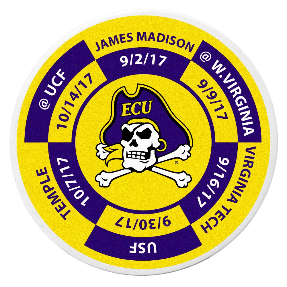 Siskiyou NCAA East Carolina Pirates Schedule Golf Ball Marker Coin