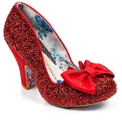 11fa26be3972 Amazon.com | Irregular Choice Nick of Time Red Sequin Pump Mid Heel ...