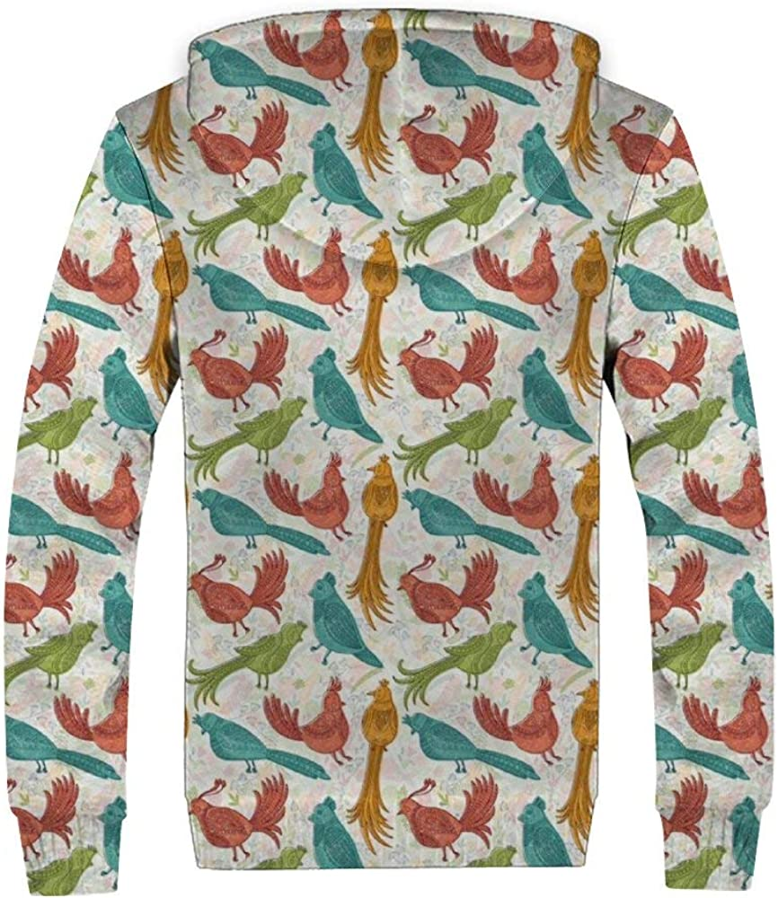 Yoin Joker und Durable Plus Sweatshirt, mit Reißverschluss, Velours, Tiere, niedliche Pflanzen, Comic-Pullover, bequem und lässig, warm und weich Color184