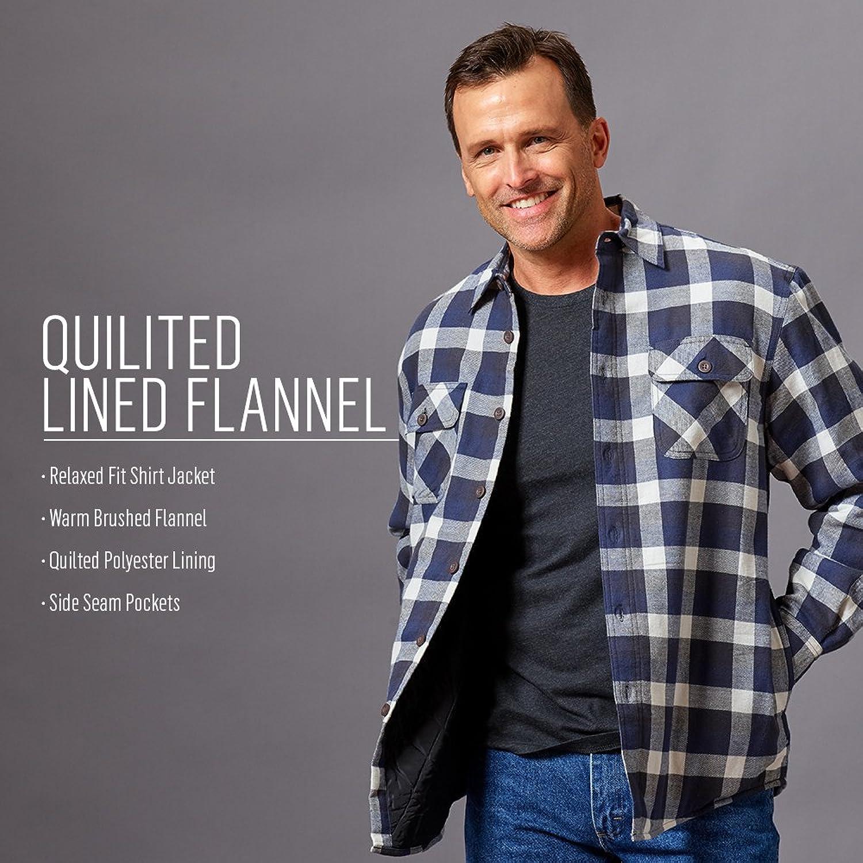 Wrangler Mens Quilted Flannel Shirt Jacket Rldm