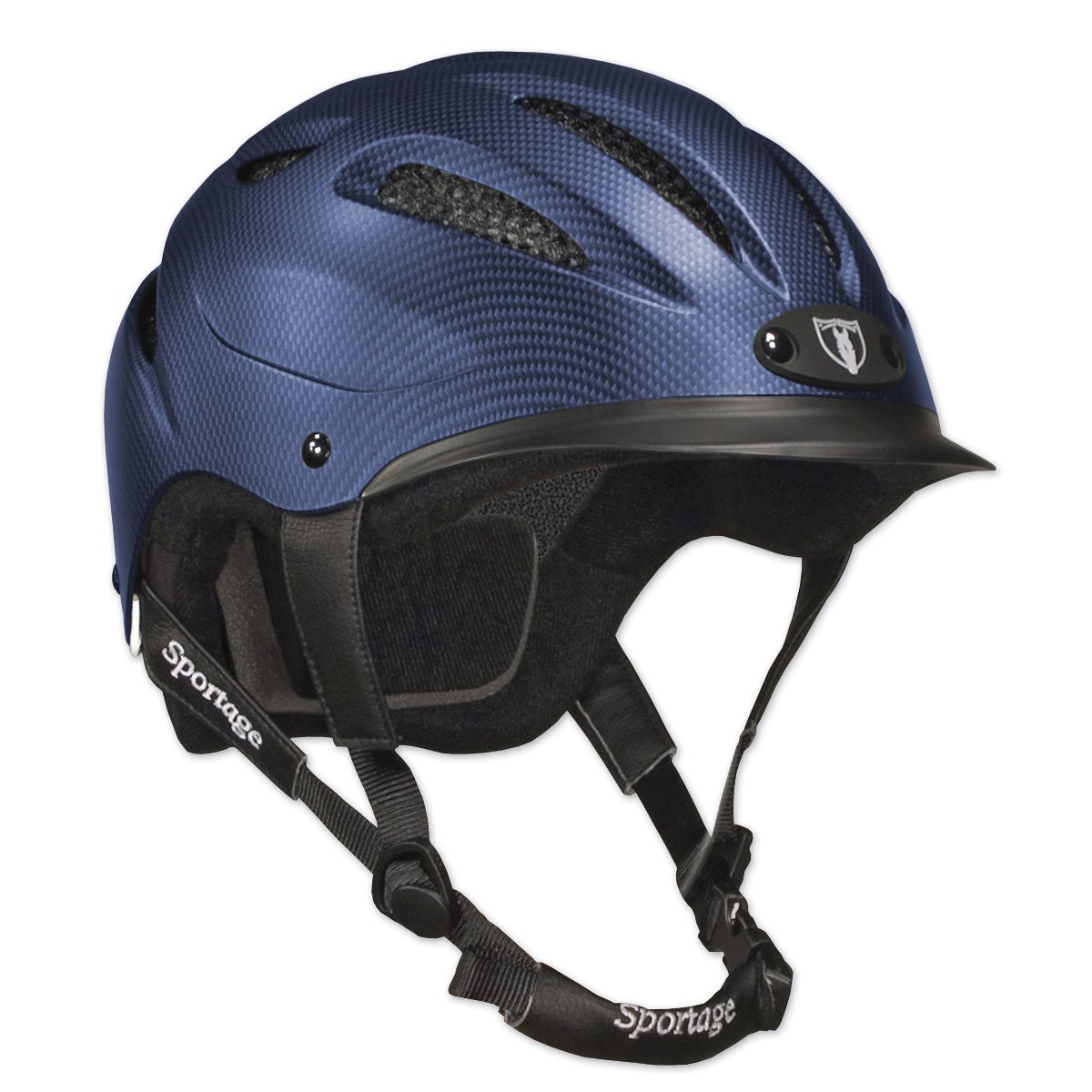 TIPPERARY EQUESTRIAN Sportage Equestrian-Helmets, Large, Navy Blue