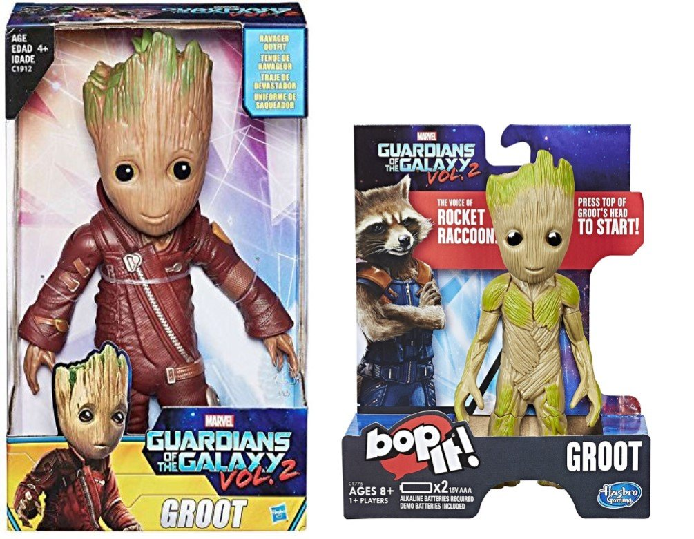 Best Seller Guardians of the Galaxy Vol.2 Baby Groot 10 Figure Ravager Outfit Exclusive & Marvel Groot Bop It Game